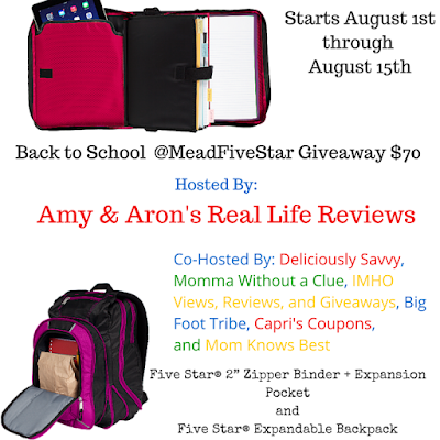 Enter the Mead Five Star Giveaway. Ends 8/15.