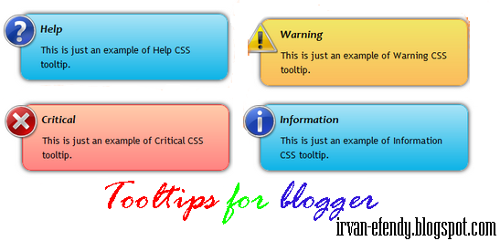 Tooltips For Blogger