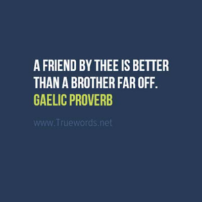 A friend by thee is better than a brother far off.