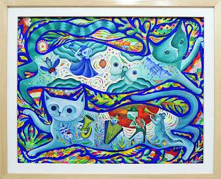 Fumiko Nakashima arte gatos