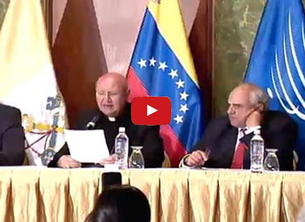 Monseñor Celli renuncia al diálogo con el régimen de Maduro