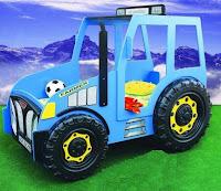 Increíbles camas que les encantarán a los pequeños tractor