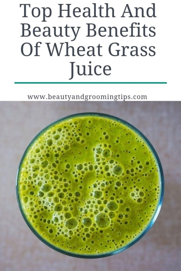 wehat grass juice is a glass