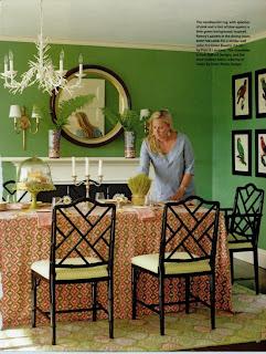 ruang+makan+hijau+klasik Desain Ruang Makan Hijau Ciptakan Nuansa Alami