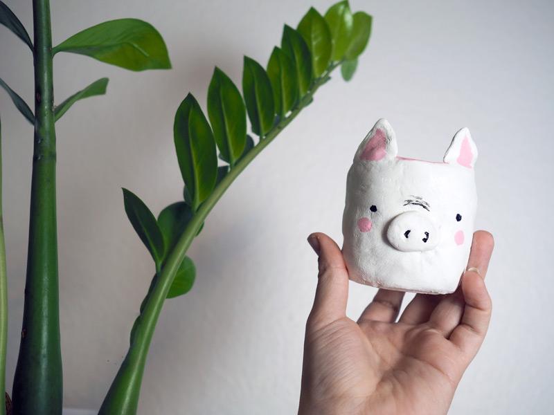 KuneCoco • DIY • Schweine Blumentopf • Tutorial