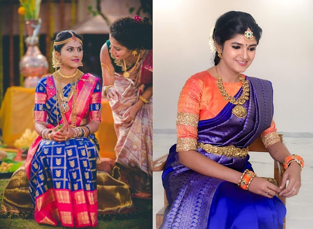e5f02e0b99 Pattu saree blouse designs have had sleeve borders for like forever but  this is 2019 and you need to reinvent. The most effortless yet interesting  way to ...