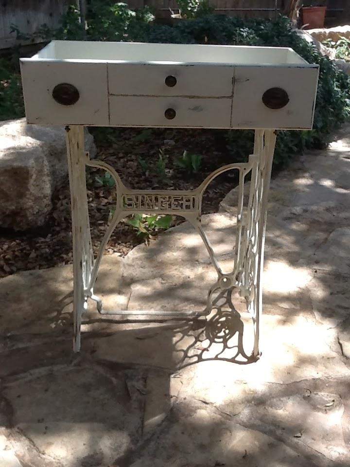 recycle singer sewing machine base ask me studio. Black Bedroom Furniture Sets. Home Design Ideas