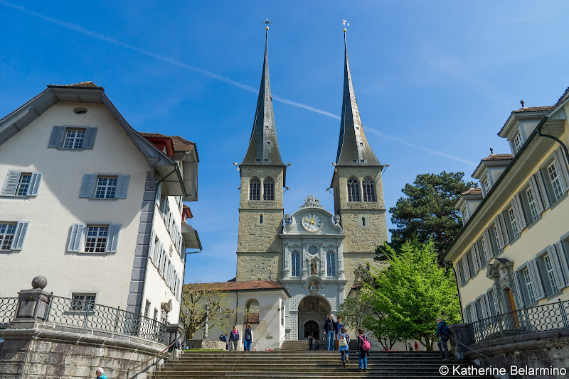 Hof Church Two Days in Lucerne Luzern Switzerland
