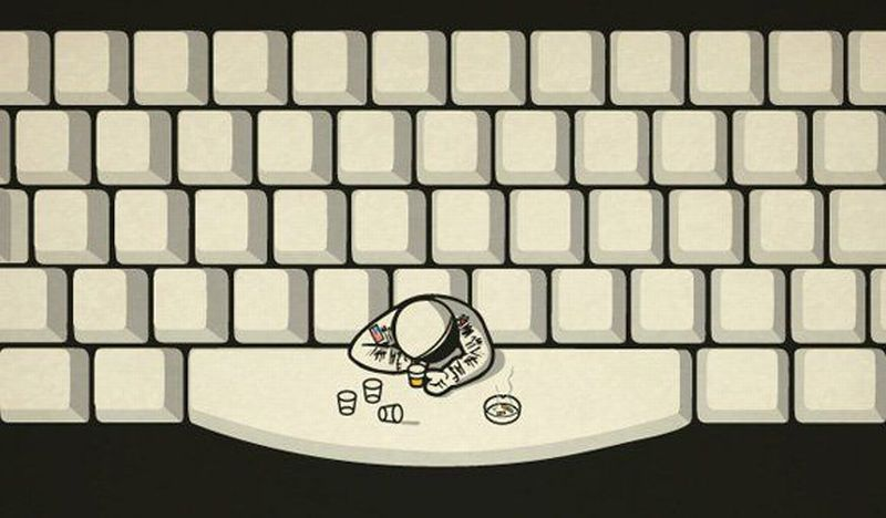 astronaut at the space bar - photo #12