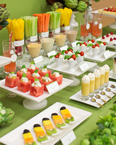 Summer Wedding Buffet Menu Ideas: Fruit Wedding Decorationsmodern Wedding