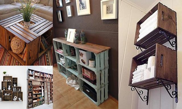 Dolce hogar decorar con cajas de madera - Mesas con cajas de madera ...