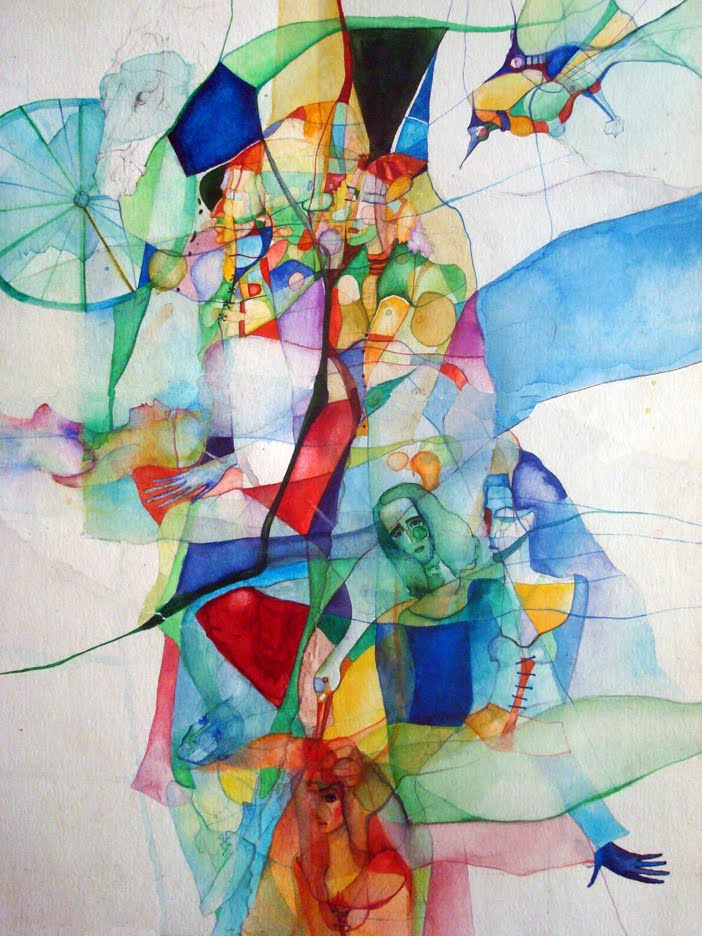 Vassia Theater Music Inspired Watercolor Paintings