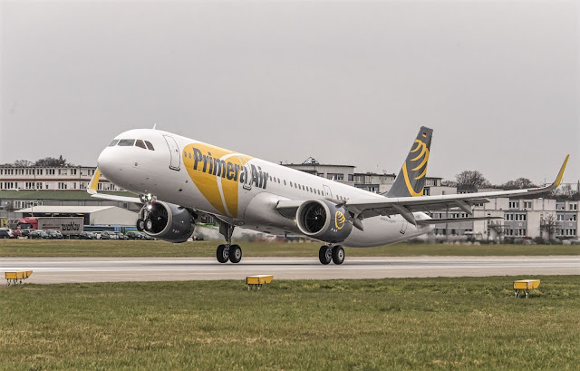 A321neo Primera Air Taking Off Runway