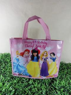 Tas Ulang tahun Princess Cinderella Rapunzel Belle Murah
