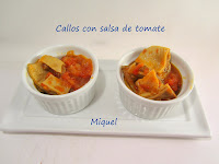 Callos con salsa de tomate