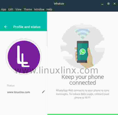 Whatsie, Whatsapp desktop application for linux, OS X and