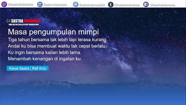 Puisi perpisahan sahabat MASA PENGUMPULAN MIMPI   34 Sastra Indonesia