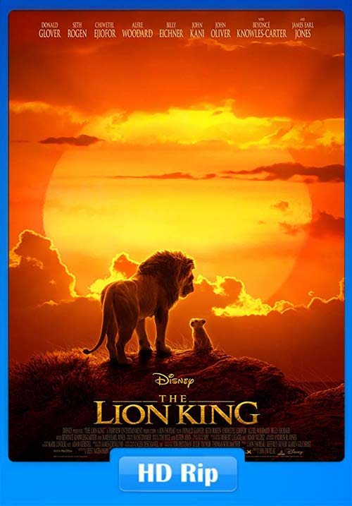 The Lion King 2019 720p BDRip Hindi Tamil Teluge English ESubs x264 | 480p 300MB | 100MB HEVC