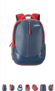 Safari blue laptop and college backpack