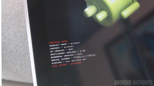 Nexus 7 fastboot bootloader unlocked grouper