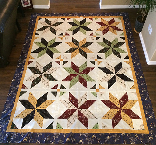Big Star Quilt Free Pattern