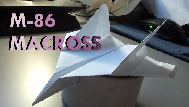 Avión de papel M-86 MACROSS