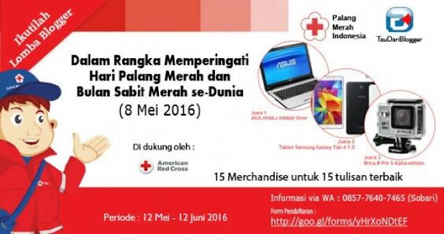 Lomba Blog PMI Dalam Rangka Hari Palang Merah Internasional 2016