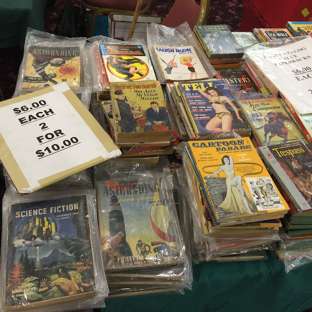 Science fiction digests, paperbacks and dime novels going cheap
