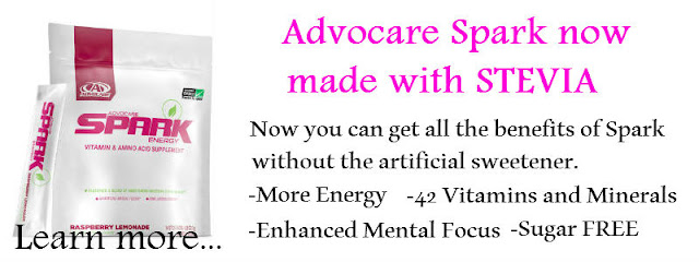 Now get Advocare Spark made with Stevia plus learn how to save 20% on your purchase.