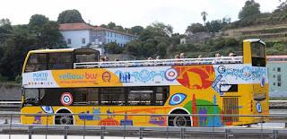 Passeio de ônibus turístico pelo Porto