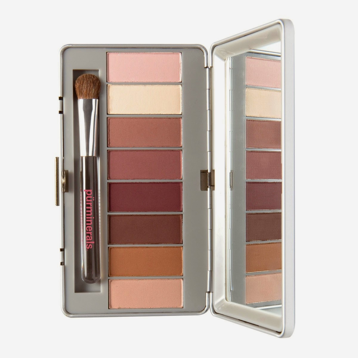 Pur Minerals Soul Mattes Eye Shadow Palette of Rosy Neutrals, opened, jpeg