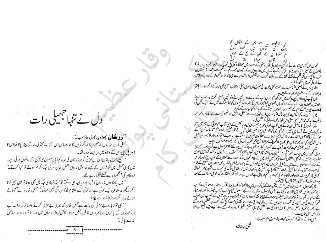 Kidnapping Novel Dil Ne Tanha Jheli Rat By Lubna Jadoon