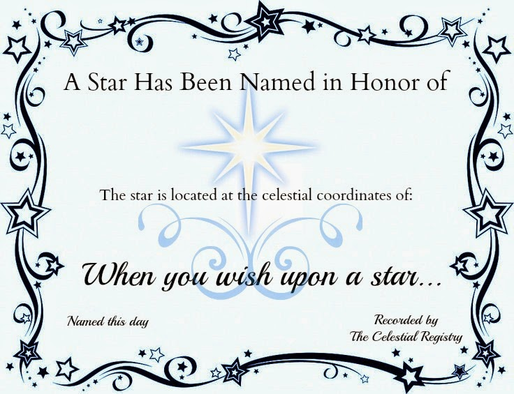 Crafty Confessions: Name A Star Certificate Freebie