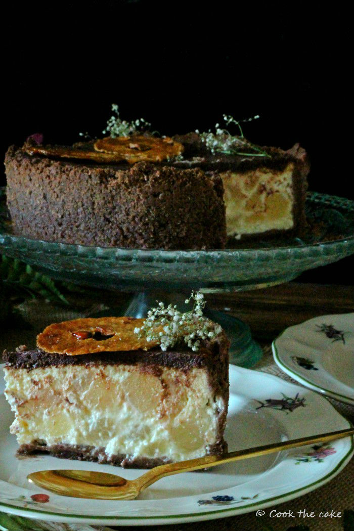 pear-ricotta-cheesecake, tarta-de-peras-y-requeson