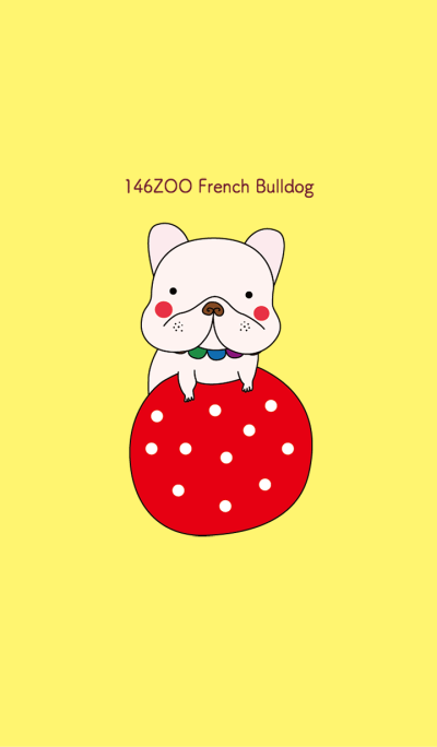 146ZOO French Bulldog yellow red theme