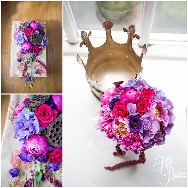 fleur couture, vibrant bouquet, lotus pod bouquet, woodhill hall, northumberland wedding venue, woodhill hall wedding photographs, woodland wedding, otterburn wedding, katie byram photography,