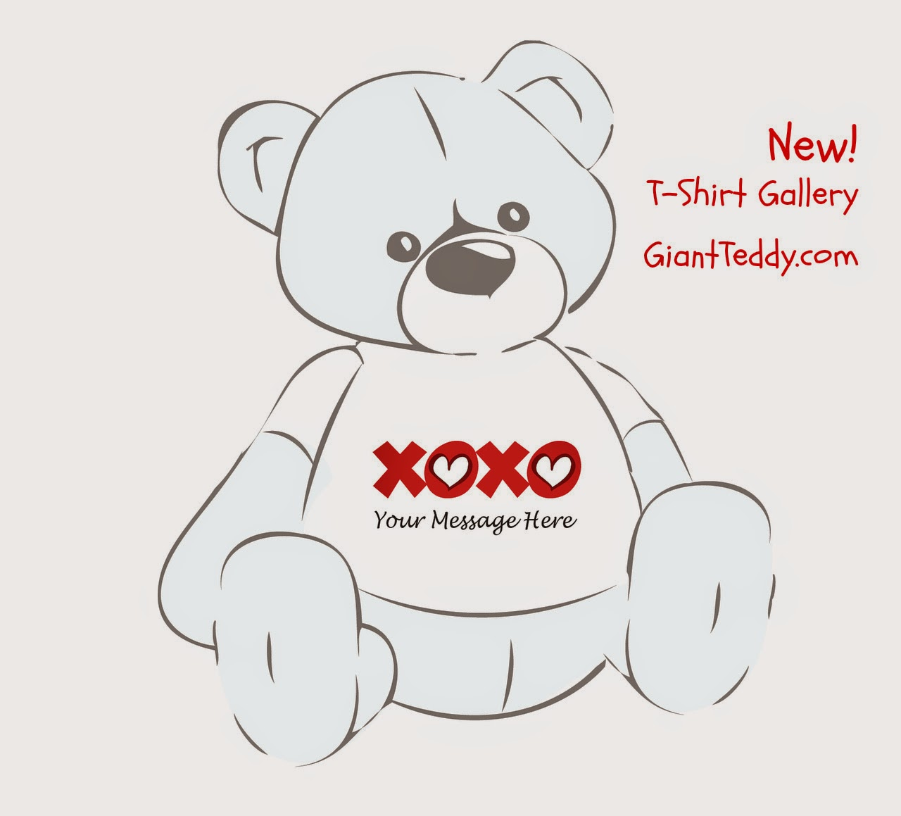 Personalize any size Giant Teddy bear