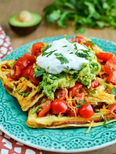 27. Waffle Omelette