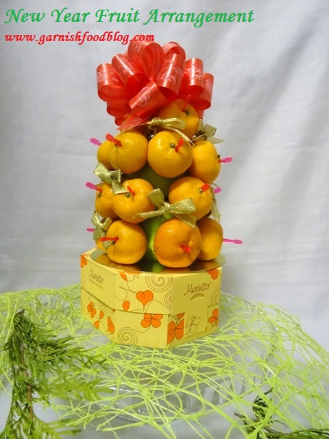 christmas fruit tower