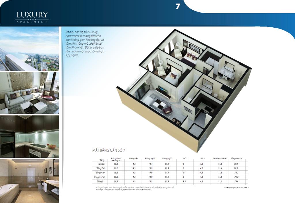 Chi tiết căn hộ 07 dự án Alphanam Luxury Apartment