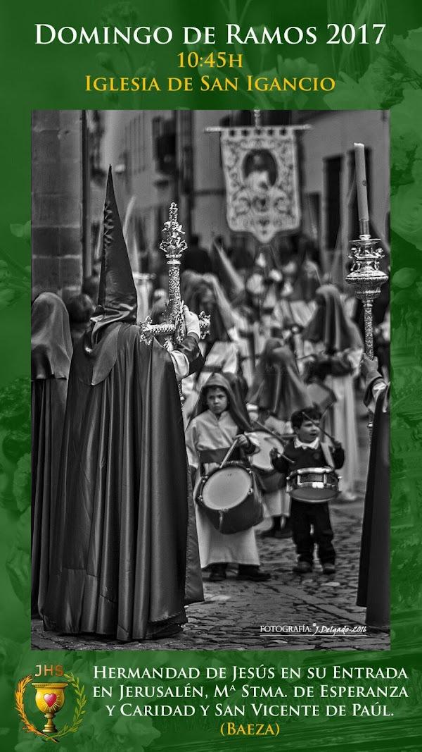 Cartel Hermandad de la Borriquilla de Baeza (jaen)