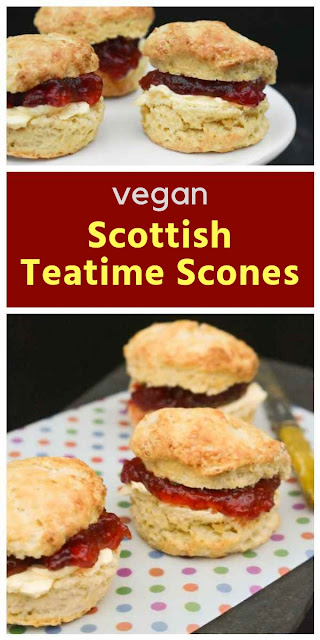 Vegan buttery teatime scones. An easy recipe for dairy free Scottish Scones.