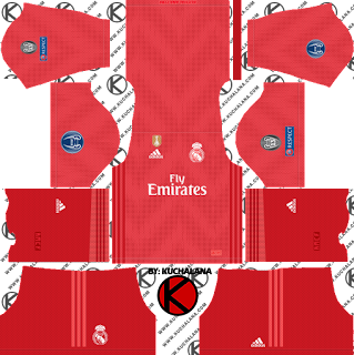 Real Madrid 2018/19 UCL Kit - Dream League Soccer Kits