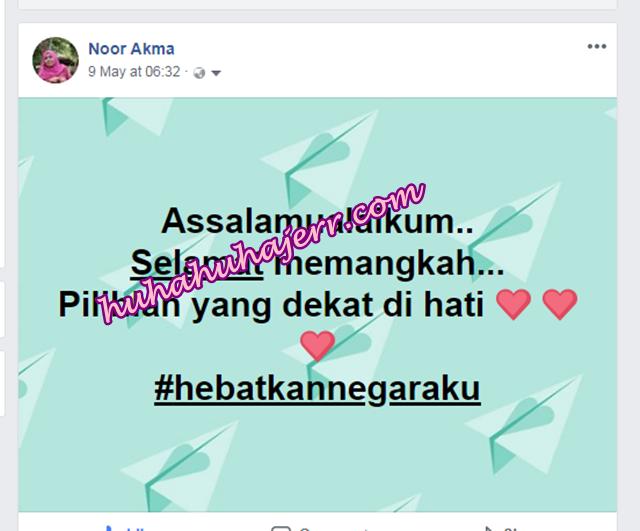 PRU 14, Malaysia Telah Memilih  Hashtag UBAH