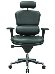 Ergohuman high back leather office chair