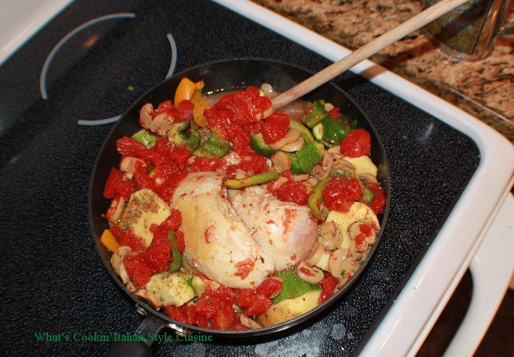 Mediterranean Style Chicken Zucchini Stew Recipe