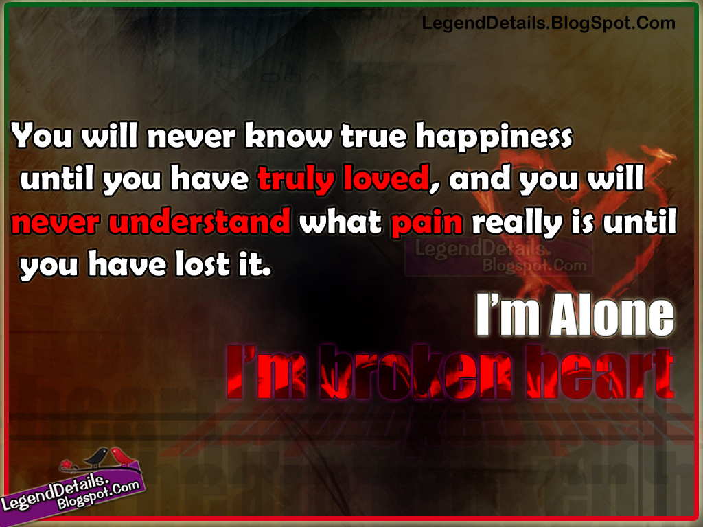 Broken Heart Alone Quotes Images