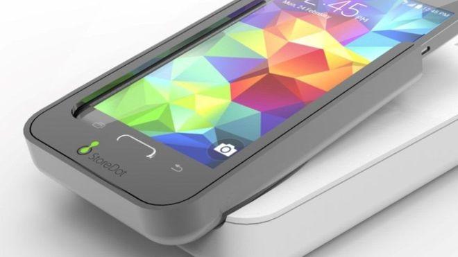 Smartphone com bateria recarregável em 5 minutos!