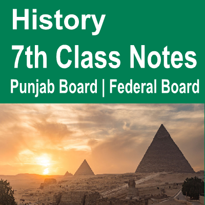 Solved Notes History 7th Class Chapter Wise Subjective and Objective notes