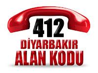 0412 Diyarbakır telefon alan kodu